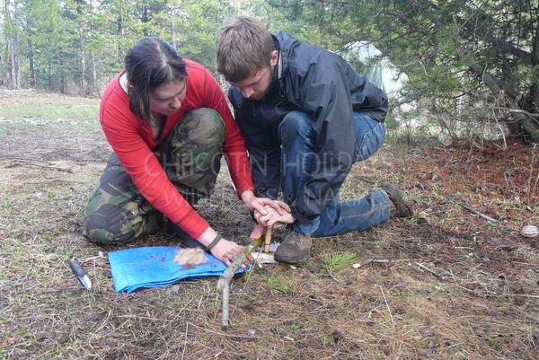 Bushcrafting harmony: living and connecting to nature