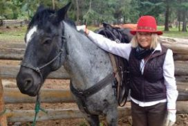 Verena Foxx and her horse, Blue.